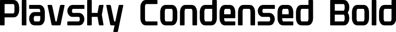 Plavsky Condensed Bold