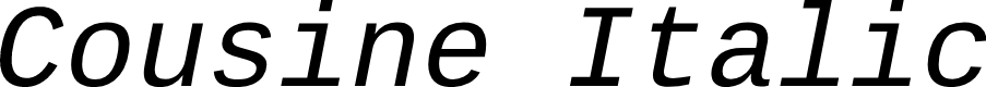 Preview image for Cousine Italic