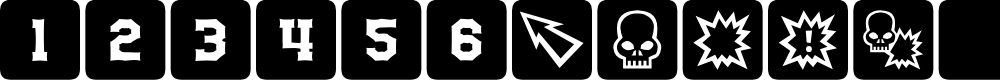 Preview image for dPoly Block Dice Font