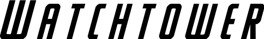 Preview image for Watchtower Title Italic