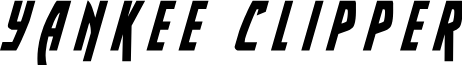 Yankee Clipper Title Italic