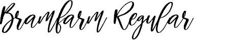 Preview image for Bramfarm Regular Font