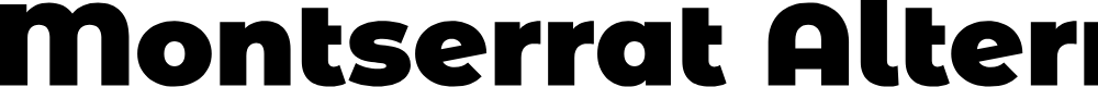 Preview image for Montserrat Alternates Black Font