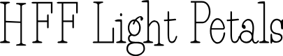 Preview image for HFF Light Petals Font