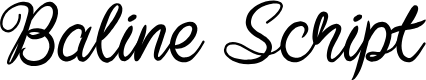 Preview image for Baline Script Font