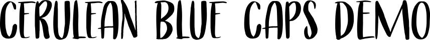 Preview image for Cerulean Blue Caps DEMO Regular Font