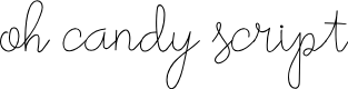 Preview image for oh candy script font regular script Font