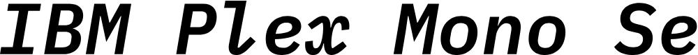 Preview image for IBM Plex Mono SemiBold Italic