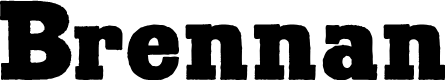 Preview image for Brennan Font