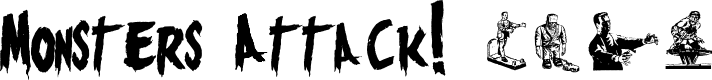 Preview image for Monsters Attack! Font