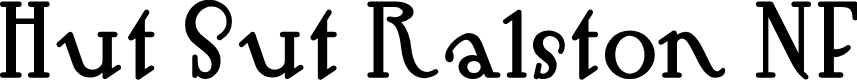 Preview image for Hut Sut Ralston NF Font