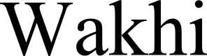 Preview image for Wakhi Font