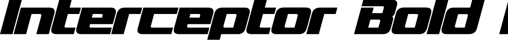 Preview image for Interceptor Bold Italic