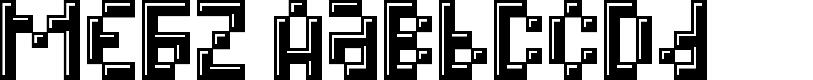 Preview image for MEGZ Font