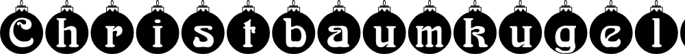 Preview image for Christbaumkugeln Font