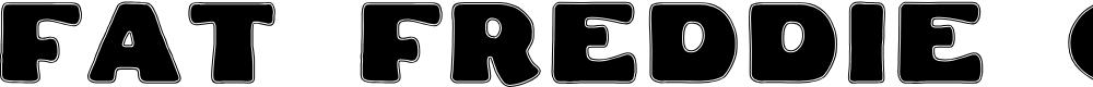 Preview image for Fat Freddie Contour Font