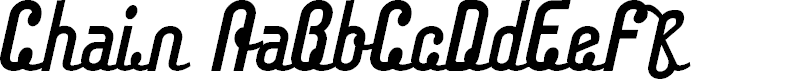 Preview image for Chainregular Font