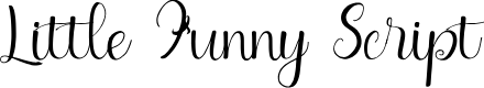 Preview image for Little Funny Script Font