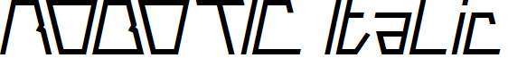 ROBOTIC Italic