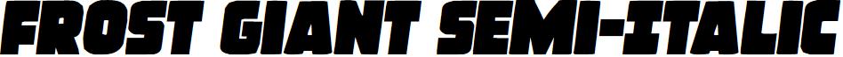 Frost Giant Semi-Italic