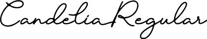 Preview image for Candelia Regular Font