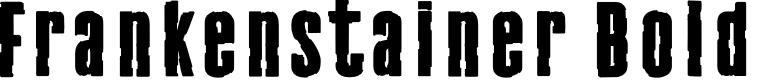 Preview image for Frankenstainer Bold Font