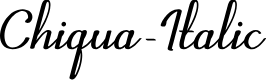Preview image for Chiqua-Italic