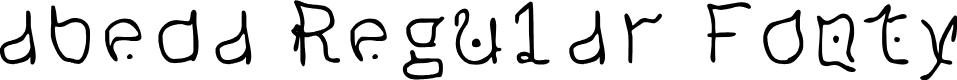 Preview image for abeda Regular Fonty Font