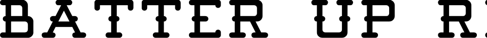 Preview image for Batter Up Regular Demo Font