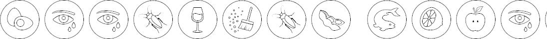 Preview image for Allergen Outline Font