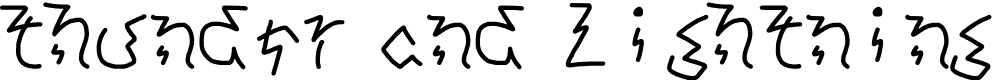 Preview image for thunder and lightning Regular Font