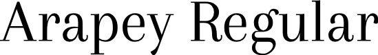 Preview image for Arapey Regular Font