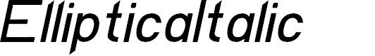Preview image for EllipticaItalic