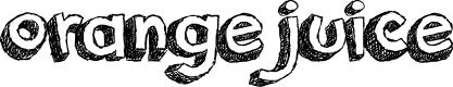 Preview image for orange juice Font