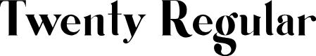 Preview image for Twenty Regular Font
