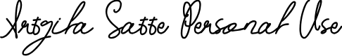 Preview image for Artgila Satte Personal Use Font