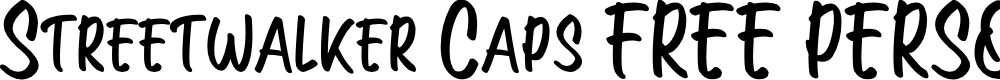 Preview image for Streetwalker Caps (FREE PERSONA Font
