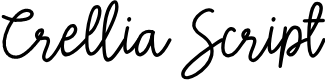 Preview image for Crellia Script Font