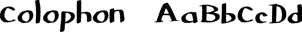 Colophon DBZ