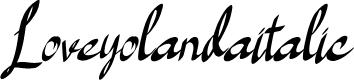 Preview image for Loveyolandaitalic