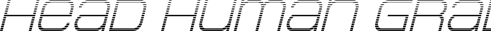 Head Human Gradient Italic