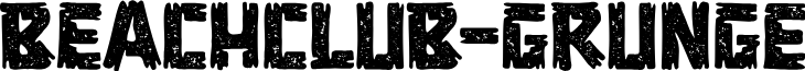 BEACHCLUB-Grunge font