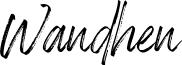 Wandhen font