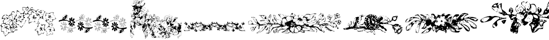 Preview image for Floral Garnish Font