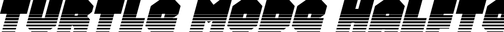 Turtle Mode Halftone Italic