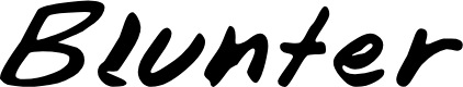 Preview image for Blunter Font