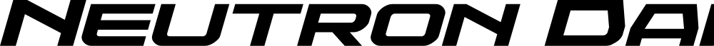Neutron Dance Expanded Italic