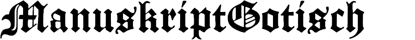 Preview image for ManuskriptGotisch Font