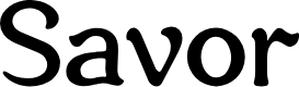 Preview image for Savor Font