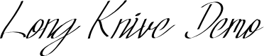 Preview image for Long Knive Font